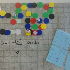 Paper prototype for a party game